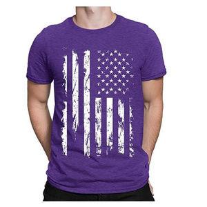 Other - NWT Purple USA Flag T-Shirt S M L XL 2XL 3XL